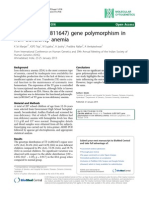 Transferrin (Rs3811647) Gene Polymorphism in Iron Deficiency Anemia