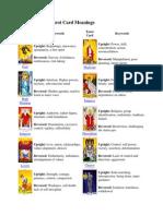 Tarot Sheet / Table
