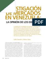 Investigacion de mercados en Venezuela