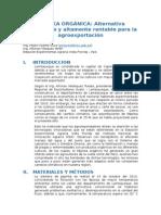 PÁPRIKA ORGÁNICA (Alternativa Sustentable y Altamente Rentable Para La Agroexportación)