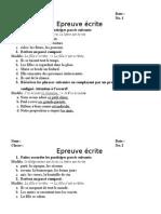 Test Fr. Part Passe - 10L2