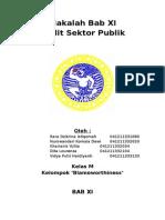 Makalah Bab 11 Akuntansi Sektor Publik Indra Bastian
