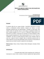 O Instituto Juridico Do Amicus Curie e Sua Aplicacao No Direito Brasileiro