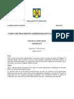 Proiect Cod Procedura Administrativa