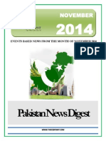 Pakistan News Digest November - 2014