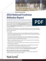 2014 National Freshman Attitudes Study