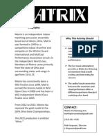 matrix one sheet