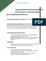 Informe I Copa de Spleef de La F.D.A.