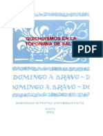 Quichuismos en La Toponimia de Salta