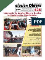 Semanario Revolución Obrera Edición No. 426
