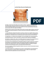 Como Desarrollar Masa Muscular Rápidamente