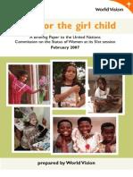 Hope for the Girl Child World Vision International