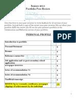 2013 portfolio peer review