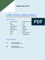 Curriculum Vitae Vanessa Jimenez 2014