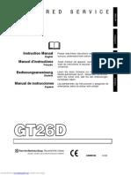 Jonsered gt26d Instruction manual