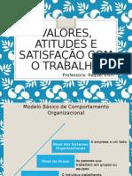 Valores, Atitudes e Satisfação Com o Trabalho