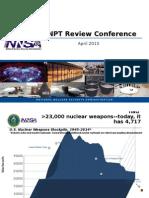 NNSA Presentation at 2015 U.N. Non-Proliferation Treaty Review Conference