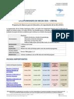 Convocatoria CREFAL- 20 Ene 2015