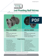 Flo-Tite Flanged Floating Ball Valves