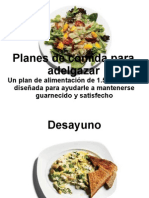 Planes de Comida Para Adelgazar