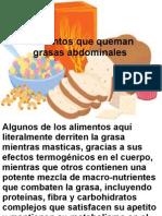 Alimentos Que Queman Grasas Abdominales