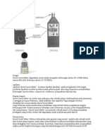 Sound Level Meter Prinsip