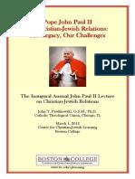 John Pawlikowski, John Paull II and Christian-Jewish Relations