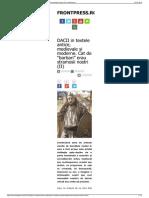 "DACII in Textele Antice, Medievale Si Moderne. Cat de ""Barba"