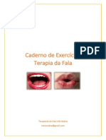 Caderno de Exercícios Terapia Da Fala