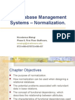3 - Database Management Systems – Normalization.