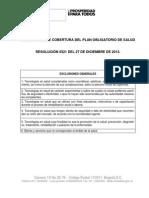 Exclusiones Del Pos Resolucion 5521 Del 2013