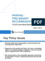 Presentation on Parking Policies