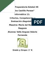 Criterios, Competencias y Evaluación Diagnóstica