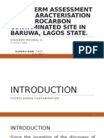 Long Term Assessment of Hydrocarbon Contamination in Baruwa Community, Lagos, Nigeria
