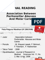 jurnal Association Between Peritonsillar Abscess And Molar Caries Feba