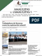 01-05-15 Trabajadores de Reynosa contra la explotación infantil