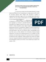 Evidencia Del Proceso y Efecto de Los Factores Limitantes