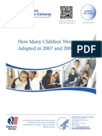 How many children were adopted in 2007-2008