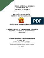 Perfil de Proyecto de Innovacion Educativa