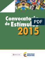 estimulos mincultura 2015