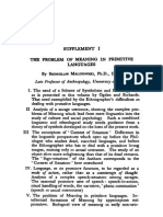 MALINOWSKI, B. the Problem of Meaning in Primitive Languages