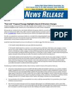 IHSAA News Release