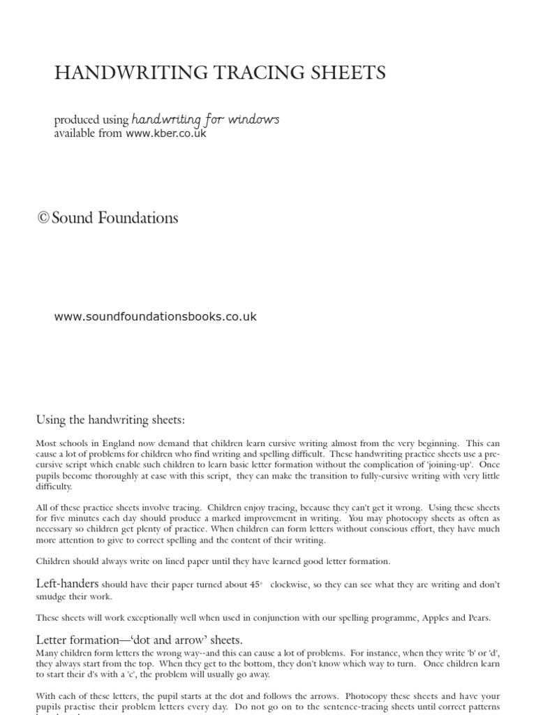 Letter Formation Sheets Gallery - Letter Samples Format