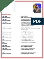 Curriculum de Hugo Chavez