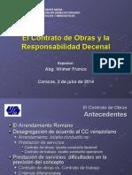 El Contrato de Obras y la Responsabilidad Decenal 2-7-2014.ppt