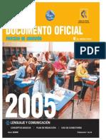2005 Demre 01 Modelo Preguntas Lenguaje