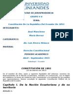 Derecho Constitucional - Constitucion de 1851