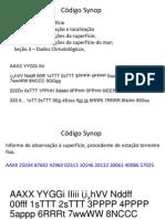 Material Código Synop