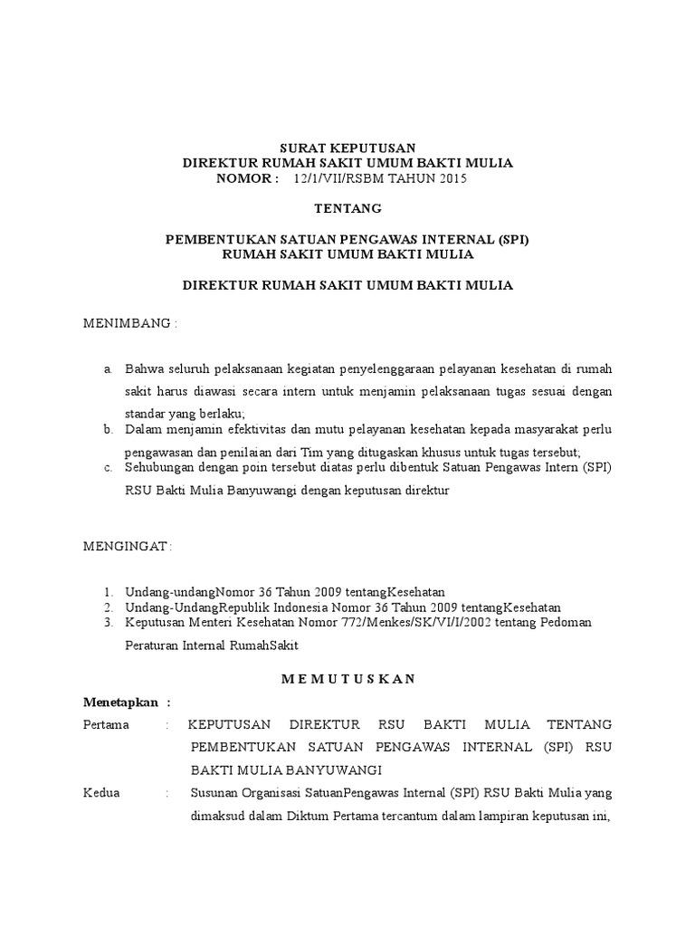 Contoh Laporan Audit Internal Rumah Sakit Kumpulan Contoh Laporan
