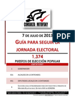 2013_Guia Para Seguir La Jornada Electoral